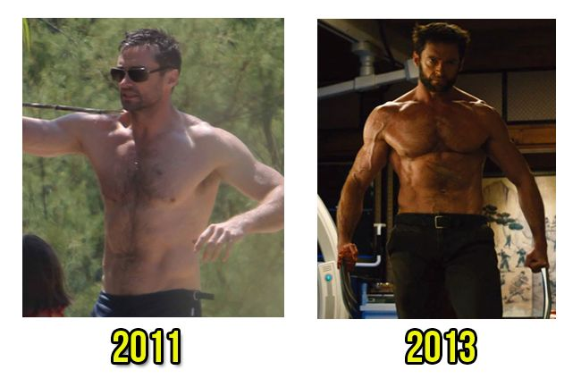 How he transformed from 2011 to the Hugh Jackman shirtless 2013
