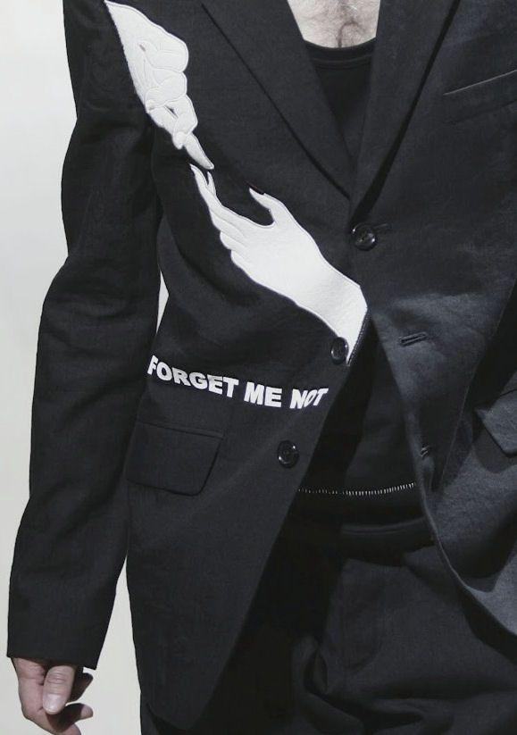 Forget me not............Yohji Yamamoto
