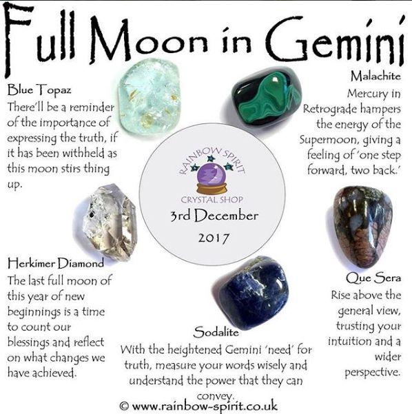 Full Moon In Gemini Crystal Healing Stones Crystals And Gemstones Reiki Crystals