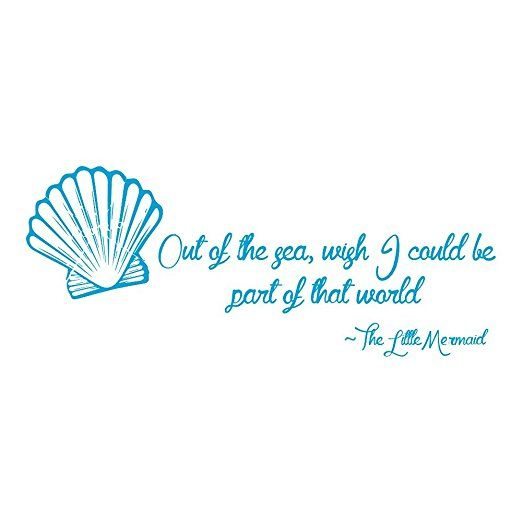 The Little Mermaid Wall Sticker Quote Wall Decal Art available in 5 Sizes and 25 Colours Small Ocean Blue: Amazon.ca: Home & Kitchen