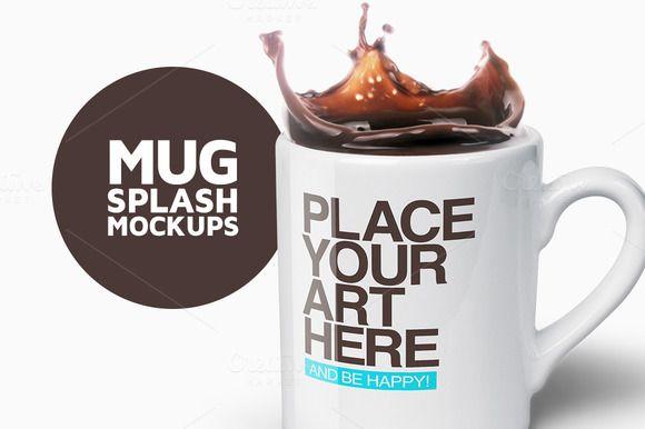 Mug Splash Mockups by Avelina on @creativemarket