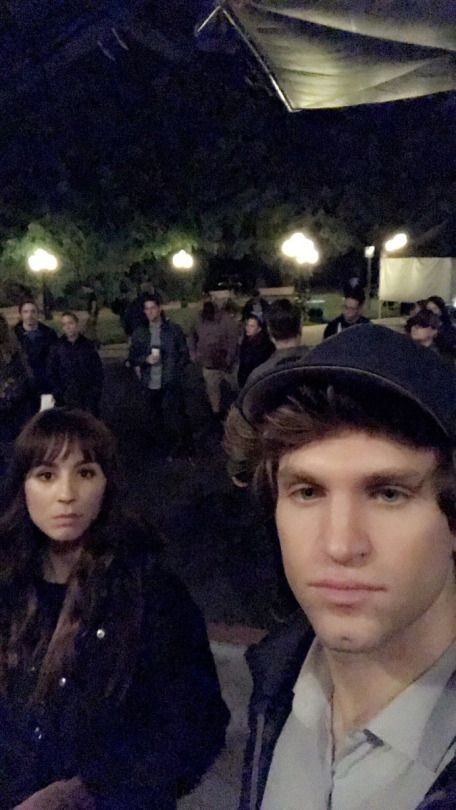 Keegan and Troian on set for PLL 7x20 (10/14/16)