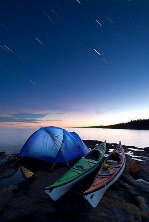 Kayaking and camping. Good combo!