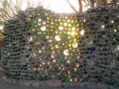 Slab City, California. Bottles Wall