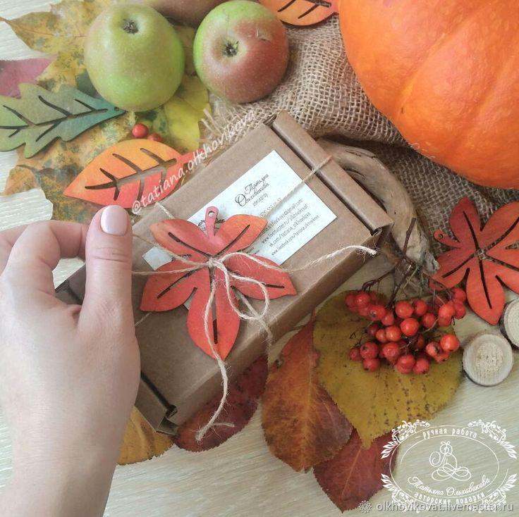 """Купить Бирочки """"Осенние листья"""" в интернет магазине на Ярмарке Мастеров"""