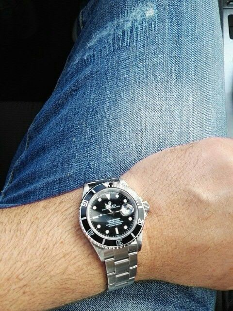Today for me denim jeans and Rolex Submariner.