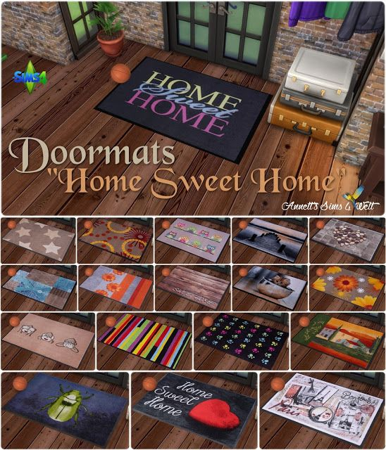 "(*** http://BubbleCraze.org - If you like bubble games for Android/iPhone, you'll LOVE this one. ***)  Annett's Sims 4 Welt: Doormats ""Home Sweet Home"""