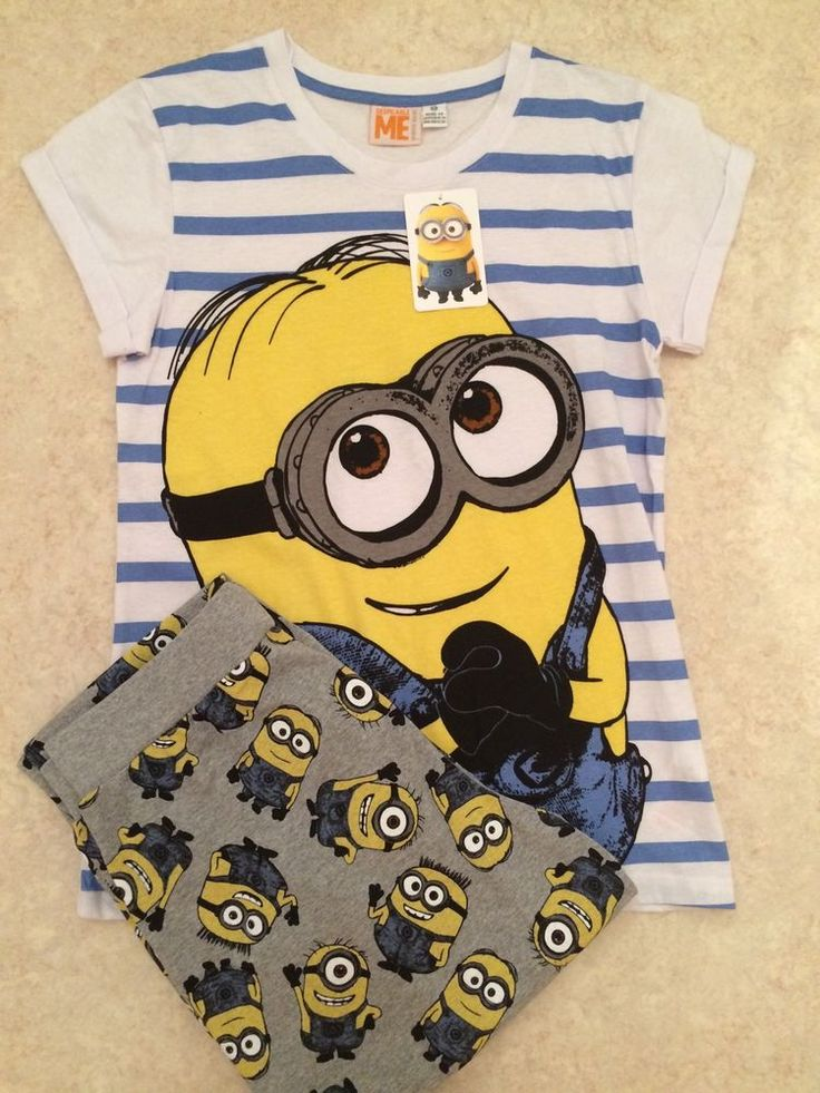 Ladies DESPICABLE ME MINIONS Pyjama Set by Primark BNWT