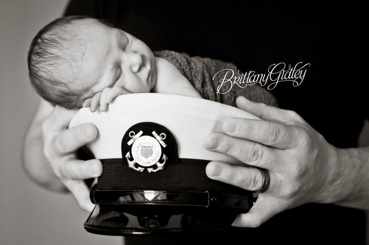 Coast Guard   Coast Guard Hat   Newborn   Portraits   Baby Photography   Start With The Best   Brittany Gidley Photography LLC