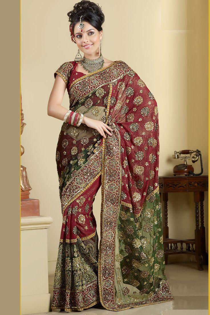 Embroidered Sarees Collection 2011 Wedding SariBridal DressesIndia