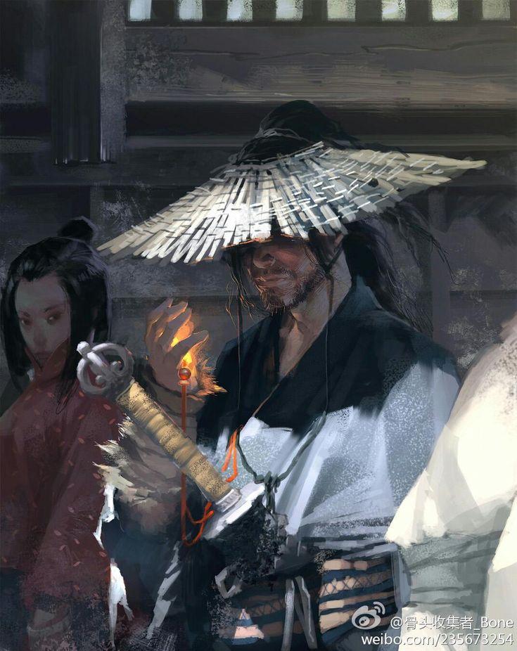 Asian inspired art and digital fantasy paintings #male #sakkat #sword