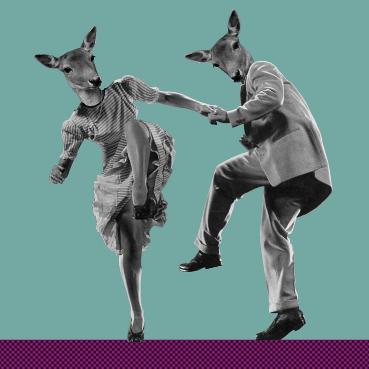 """""""Swing, my Deer, Swing"""" Collage by Marina Molares"""