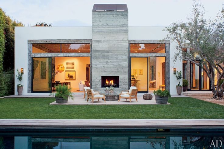 Designer Jenni Kayne's Los Angeles Home : Architectural Digest: Jenny Kayn, Outdoor Living, California Home, The Angel, Living Room, Outdoor Fireplaces, Beverly Hill, Architecture Digest, Outside Fireplaces
