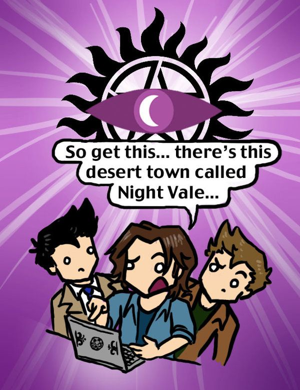 Welcome to Super Night Vale by blackbirdrose on deviantART Torn as to whether to post this to my Night Vale board or my Supernatural board...