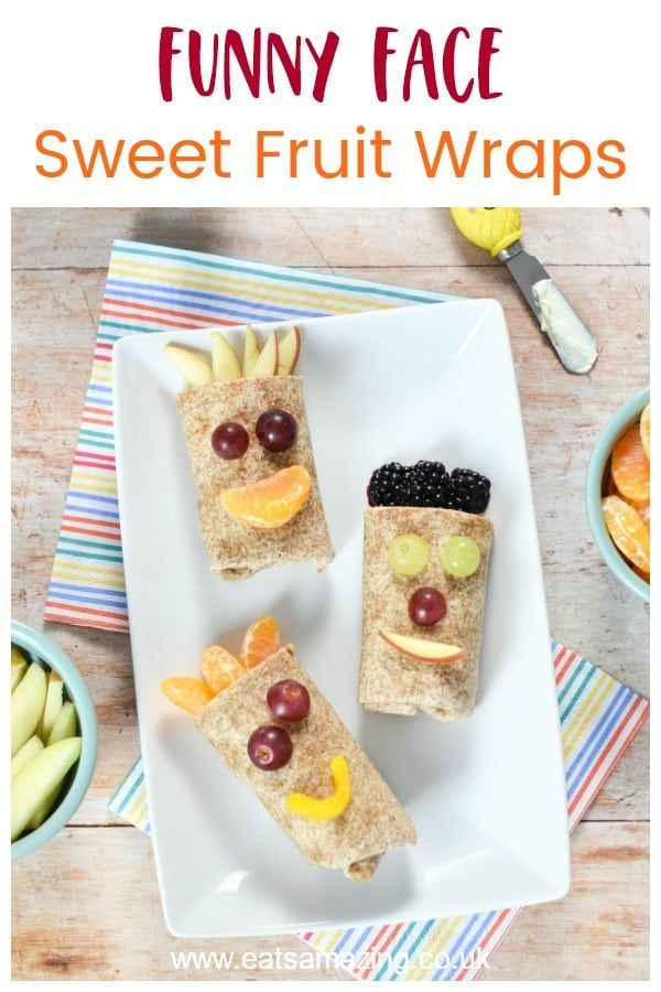Funny Face Sweet Fruit Wraps Recipe Recipe Food Fruit Wraps Party Snack Food