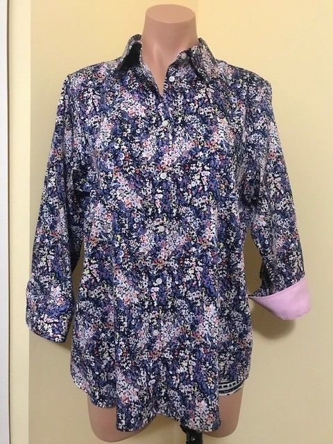f30f772fa50b15 CHAPS Bright Multicolor Floral Button Down SHIRT Blouse Womens Large NO  IRON #fashion #clothing #shoes #accessories #womensclothing #tops (ebay  link)