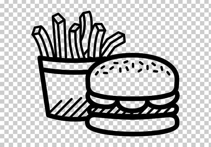 Hamburger French Fries Cheeseburger Junk Food Fast Food Png Black And White Cheeseburger Computer Icons Fast Food Food Food Png Fast Food French Fries