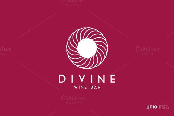 Divine Winebar Logo by Unio | Creative Solutions on Creative Market