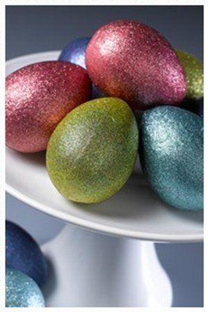 Krylon Glitter Blast glitter paint eggs