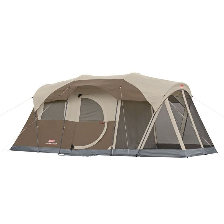 Coleman 6-Person Screened Tent Family Camping Car Campers 17'X9' #Coleman