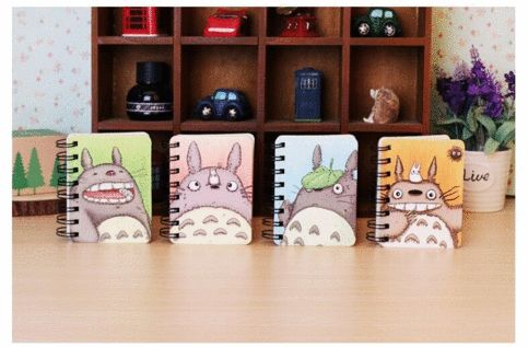 My neighbor totoro makes an apperance again!  This pocket spiral book/notepad/diary or anything that you might want to call it has simple ruled pages and one of Kawaii's most recognizable icons on the front.  Color will be sent random,all are equally cute and well packaged :P  Size:7.8cm X ...