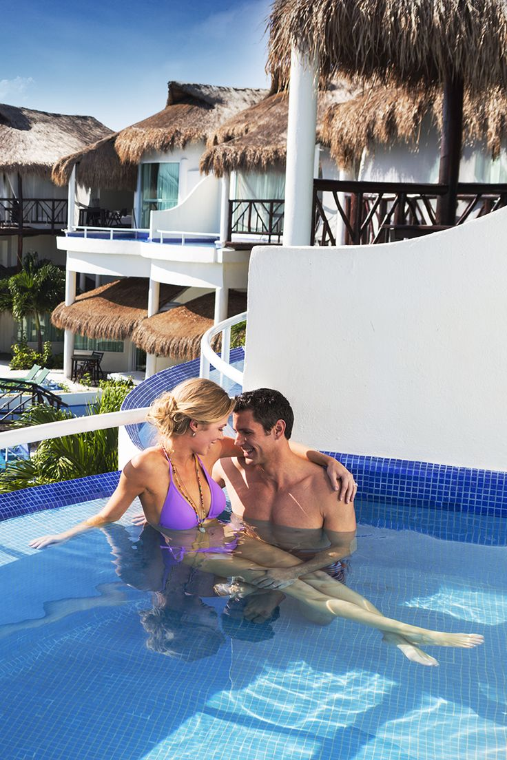 Mexico Honeymoon Ideas - splurge for a private plunge pool like the Karisma El Dorado brand of hotels