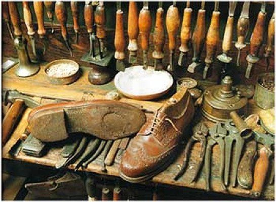 old shoe making tools