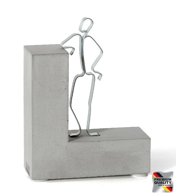 """""""Stolz drauf!"""" Geschenk zur bestandenen Prüfung  #respekt #hochachtung #stolz #eltern #wohnzimmer #Prüfung #test #büro  #student #schule #ausbildung #deko #kollege #examen #kunde #skulptur #beton #dekoration"""