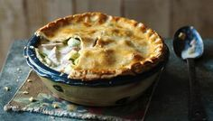 Creamy chicken, ham and leek pie - a hairy bikers triumph! Definitely making this again on cold nights.