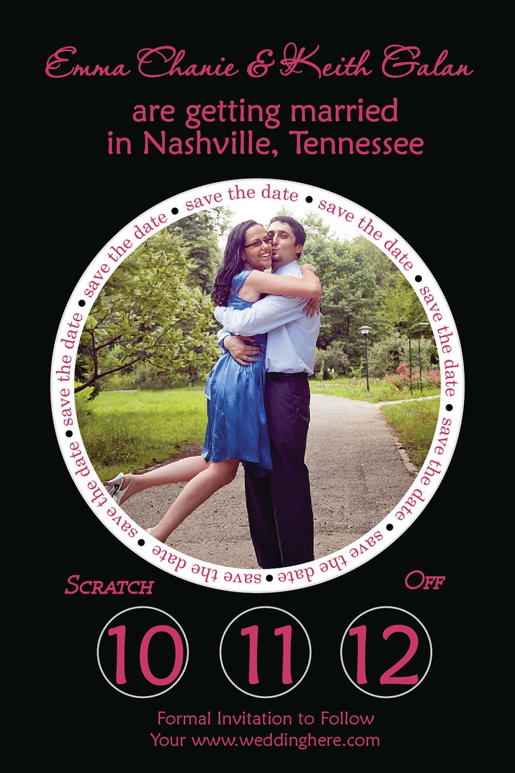Wedding Save The Date Photo Scratch Off Card Invitation Professionally Printed. $99.00, via Etsy.