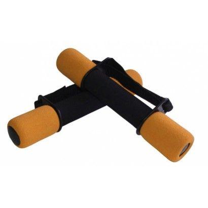 činky aerobik molitanové 2x1kg oranžové
