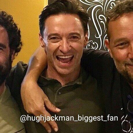 Very happy Hugh 🙌😃💕 #thehughjackman #hughjackman #actor #hollywood #australian #sexiestmanalive #man #musical #dancer #singer #talent #famous #unbeatable #beautiful #goodlooking #handsome #cool #warmhearted #friendly #attractive #fit #happy #inagoodmood #laugh