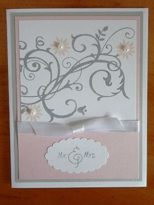 Stampin Up Handmade Greeting Card Wedding Anniversary Bridal Shower