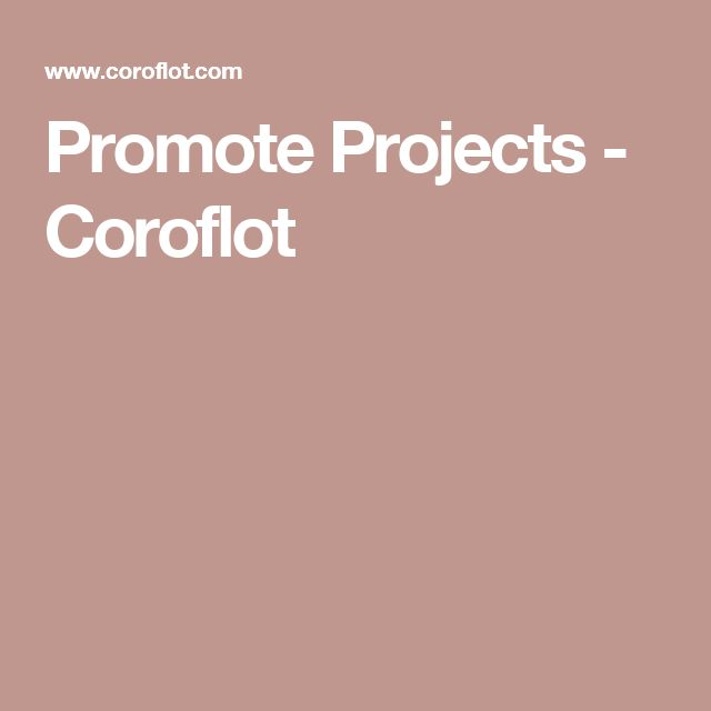 Promote Projects - Coroflot