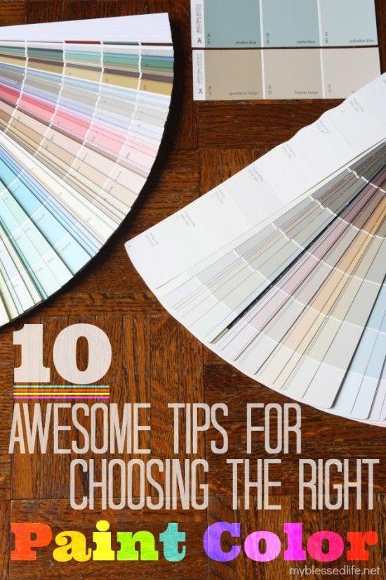 10 Tips For Choosing The Right Paint Color @Myra Cherchio Cherchio Cherchio