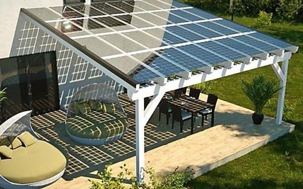 17 Awesome Diy Concrete Garden Projects The Garden Glove Solar Patio Solar Panels For Home Solar Panels