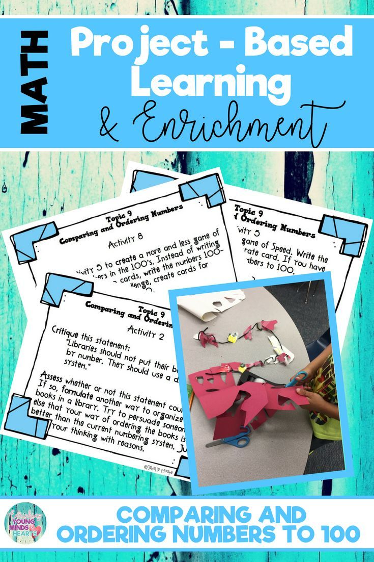 Math Project-based Learning & Enrichment for Comparing and Ordering ...