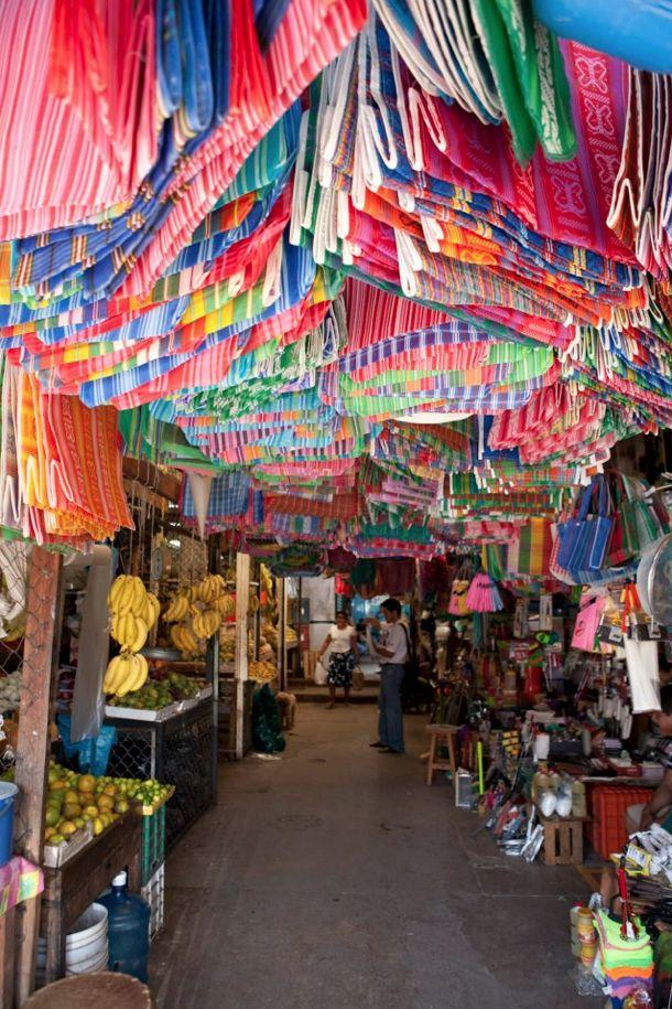 Zihuatanejo market, a fishing village near Ixtapa