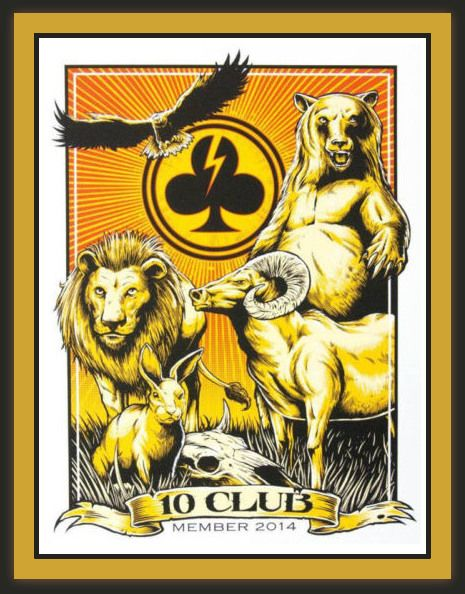 Pearl Jam Ten Club Official 2014 Member Poster by Brandon Heart