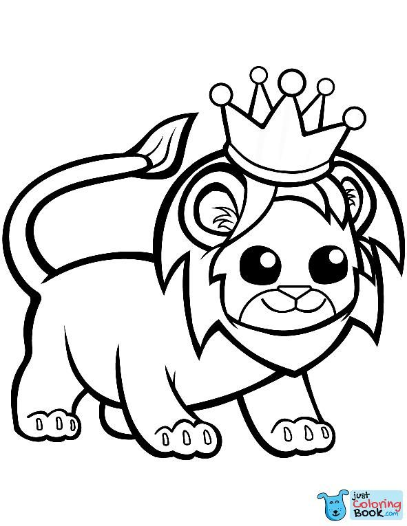 Funny Lion In A Crown Coloring Page Free Printable With Funny Lion In A Crown Coloring Pages Download More Free Printable Hd Images For Lion Coloring Pages B
