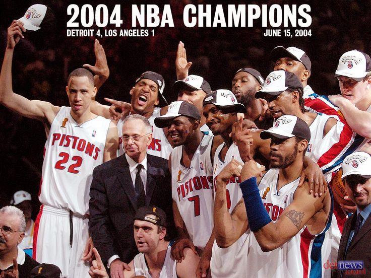 Detroit Pistons 2004 Nba Champs Detroit Basketball Detroit Sports Bad Boy Pistons