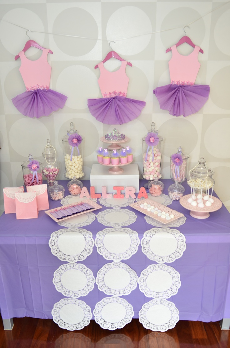 ballerina theme candy bar baby shower pinterest tutu decorations