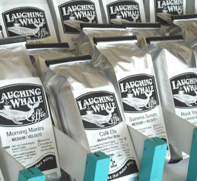 Laughing Whale Coffee Roasters Our 100% Organic & Fairtrade certified coffee roastery is in the heart of Lunenburg's historic downtown. We small batch roast using our – first in Canada – eco-roaster that burns cleaner and uses less fuel than any other roaster in Atlantic Canada.