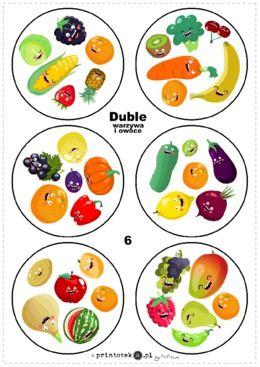 Duble - warzywa i owoce - Printoteka.pl
