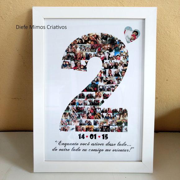 Quadro 2 Anos De Namoro Escolhido Com Imagens Presentes