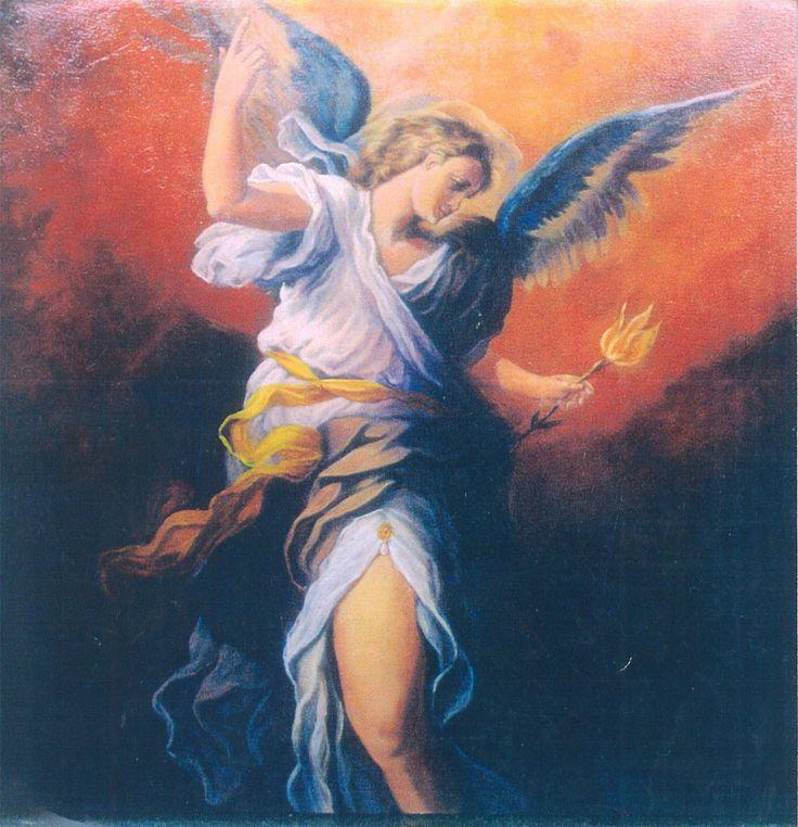figura de anjo_óleo sobre tela de Afonso Oliveira