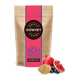 Isowhey Wholefoods Acai Pomegranate + Wildcrafted Camu-Camu Powder is a high source of antioxidants.  Isowhey Wholefoods Acai Pomegranate + Wildcrafted Camu-Camu is an organic superfood blend.