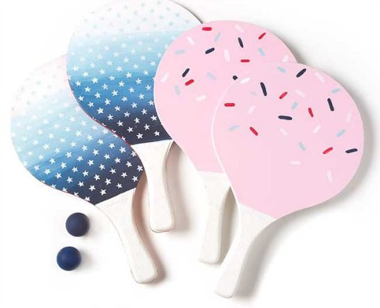 DIY this Painted Beach Ball Paddle Set - with #marthastewartcrafts paint colors inspired by the June cover of Martha Stewart Living #madaboutcolorBall Sets, Crafts Ideas, Diy Painting, Painting Beach, Stewart Crafts, Beach Paddles, Martha Stewart, Crafts Painting, Ping Pong