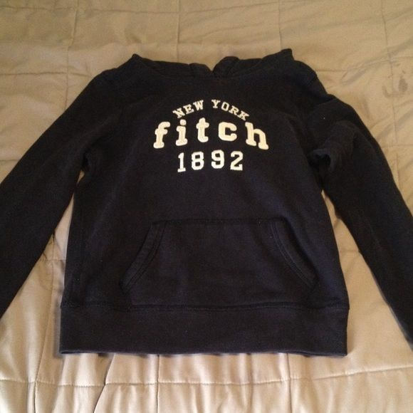 Abercrombie Kids navy blue hoodie Large Abercrombie kids hoodie with gray thermal material inside hoodie Abercrombie & Fitch Shirts & Tops Sweatshirts & Hoodies