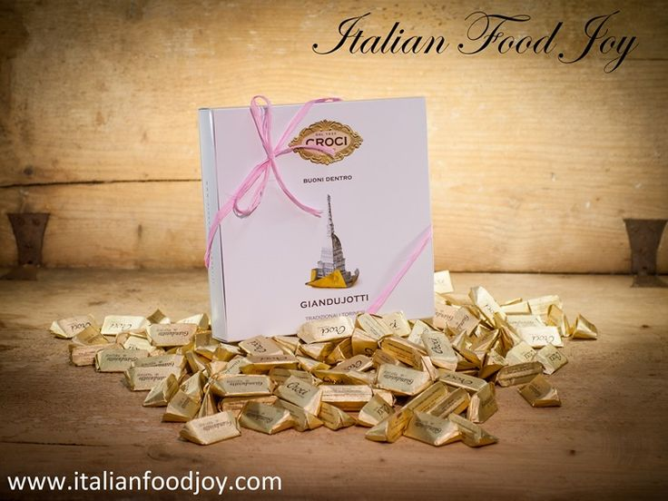 Gianduiotti #Hazelnuts_Chocolates  A symbol of #Turin is a must-have in the Croci production: the Giandujotto. Croci uses the authentic Sabauda #recipe, where the original taste and production process remain unchanged. Piedmontese #hazelnuts, sugar and #cocoa combined together at the correct temperature can restore the true flavour of the #Giandujotto in the gold aluminium foil wrapping. www.italianfoodjoy.com for UK and other countries www.italianfoodjoy.de for DE and AT only